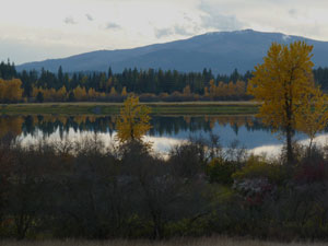 Pend OReille River in Fall
