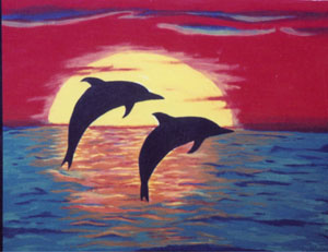 Two Dolphins by Isabel Cattadoris